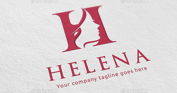 Beauty Salon Woman Letter H Logo
