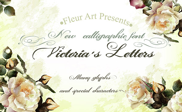 Calligraphic vintage styled font