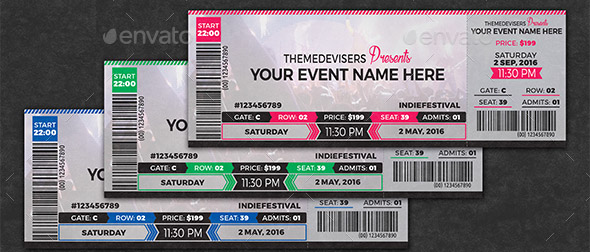 Concert Event Ticket