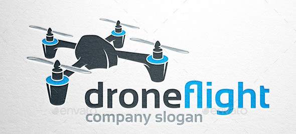 Drone Flight Logo Template