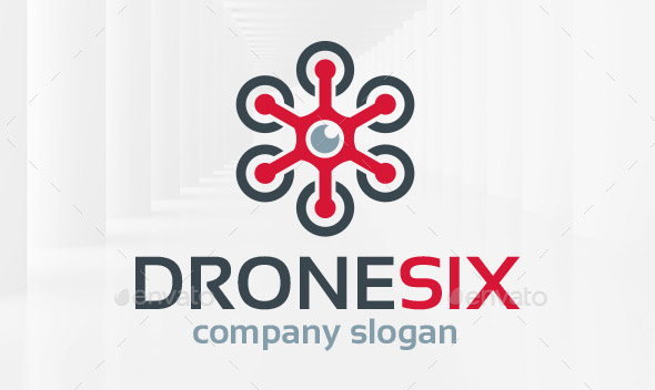 Drone Six Logo Template