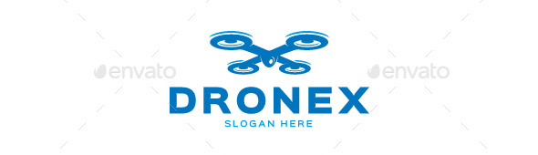 Drone letter X logo