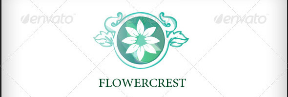 Flower Crest Logo Template