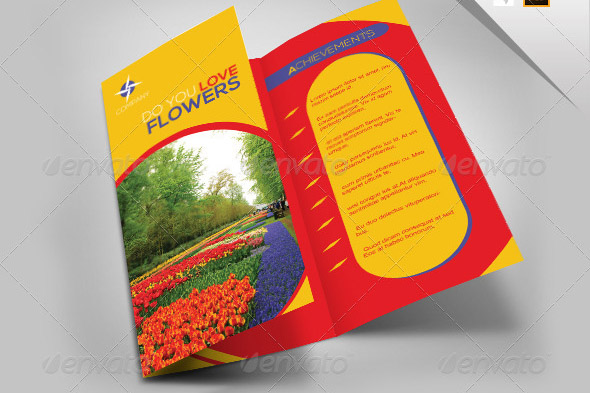 Flower Trifold Business Brochure