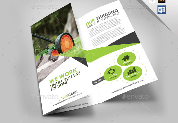 Garden Lawn Care Trifold Brochure