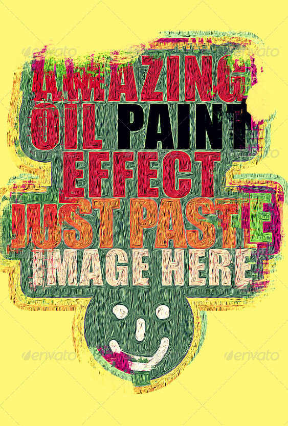 Heavy Brush Oil Painting Effect