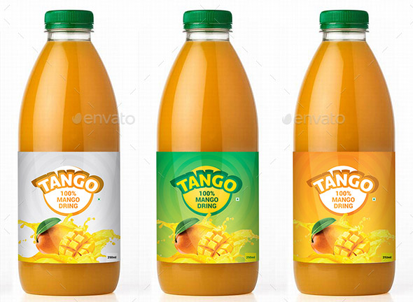 Mango Juice Label Template
