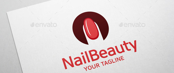Nail Beauty Logo Nail Art