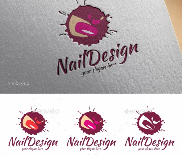nail logo template - Nail Salon Logo Design Ideas