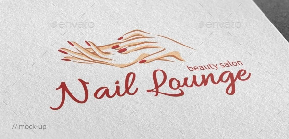 Nail Lounge Logo Template