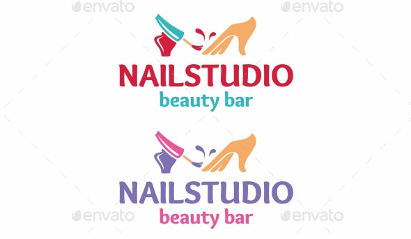 Nail Salon Logo Design Logos Maker Logogarden Download Nail Salon