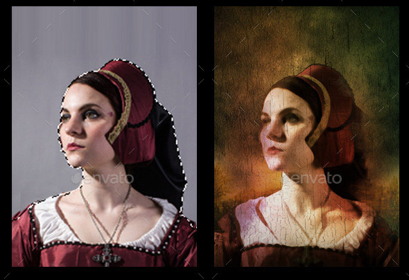 Old Portrait Painting Photo Template