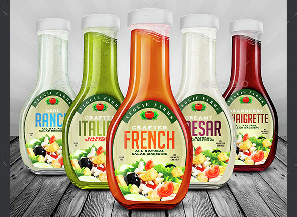 Salad Dressing Bottle Label Templates