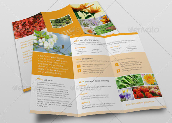 Small Business Tri-Fold Brochure Garden Center