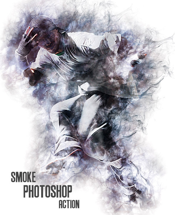 Smoke Photoshop Action 01