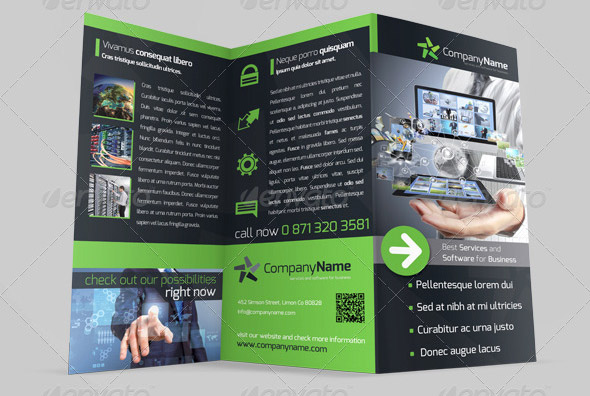 Cool Software  Hosting Provider Brochure Templates  Desiznworld