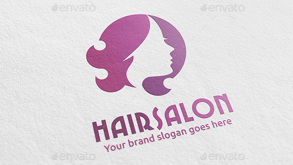 Woman Hair Salon Logo
