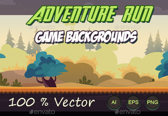 Adventure run game backgrounds