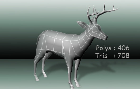 Deer low poly