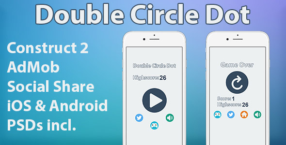 Double Circle Dot HTML5 Mobile Game