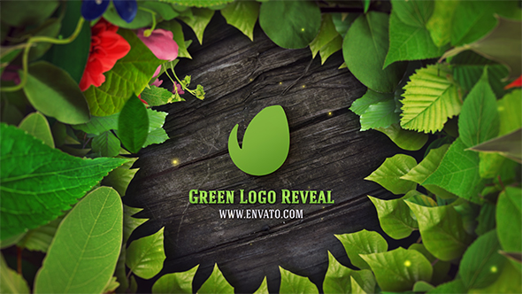 Green Natural Logo Reveal