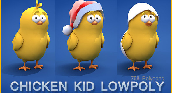 Low Poly Chicken Kid