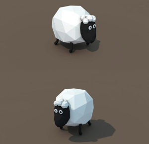 Low-Poly-Sheep