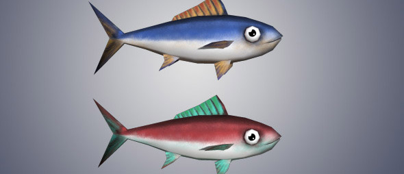 Low Poly Tuna Fish