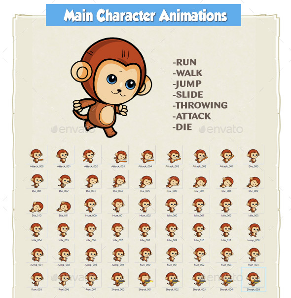 Monkey Run Game Assets 13