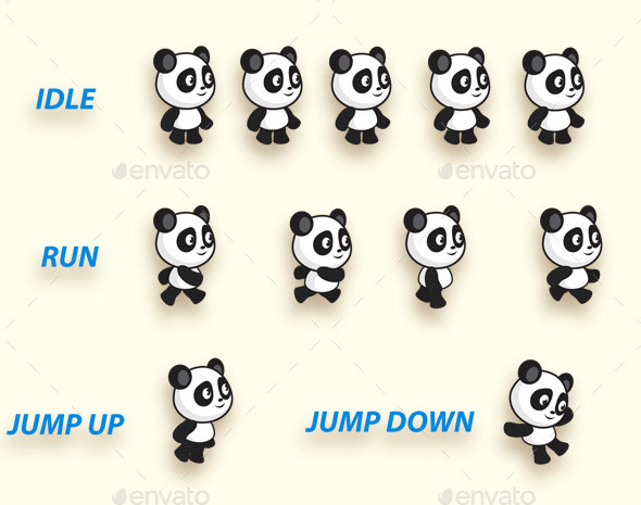 Panda Run Platformer Game Kit
