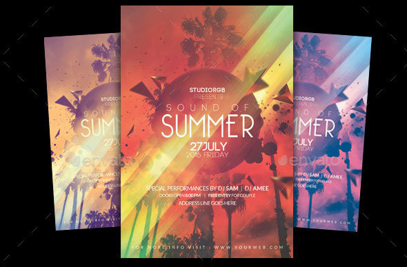 20 cool flyer templates for summer promo desiznworld