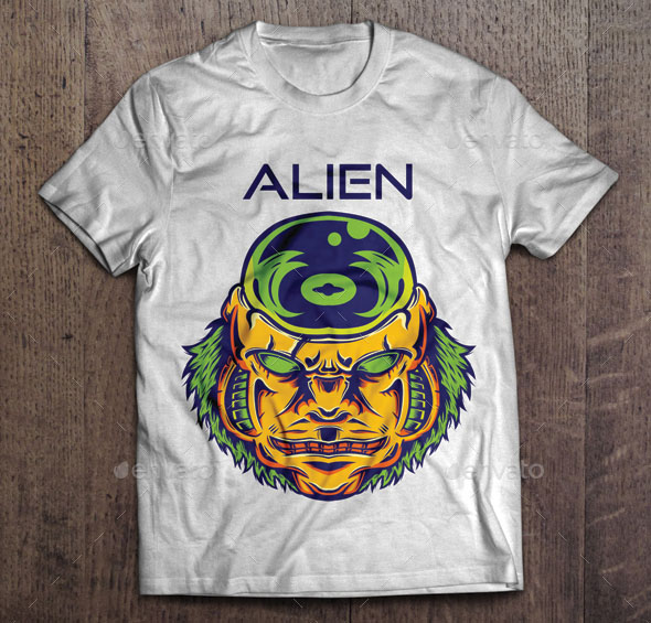 Alien T-shirt Design