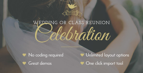 Celebration Wedding Class Reunion Theme