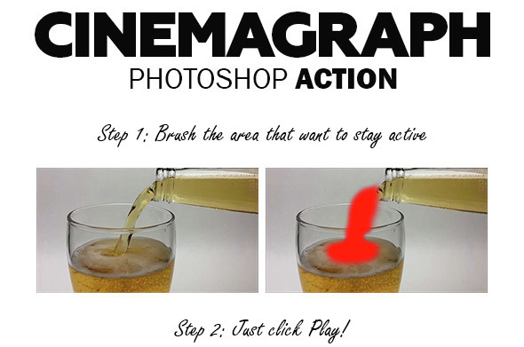 Cinemagraph Photoshop Action