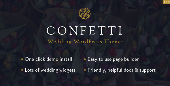 Confetti Responsive Wedding Theme