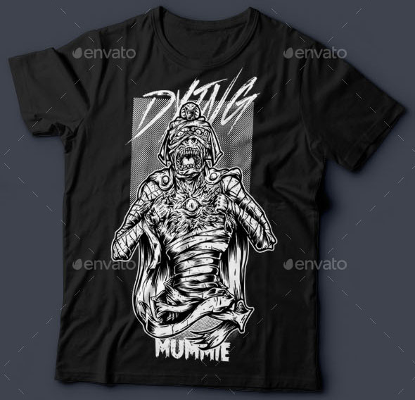 Dying Mummie T-Shirt Design