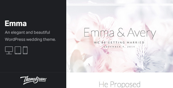 Emma Responsive Wedding WordPress Theme