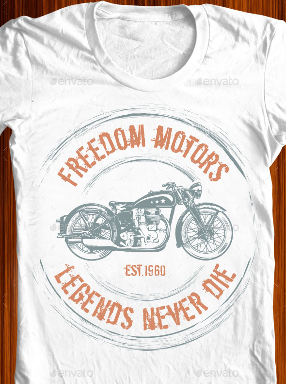 Freedom Motors Tshirt Illustration