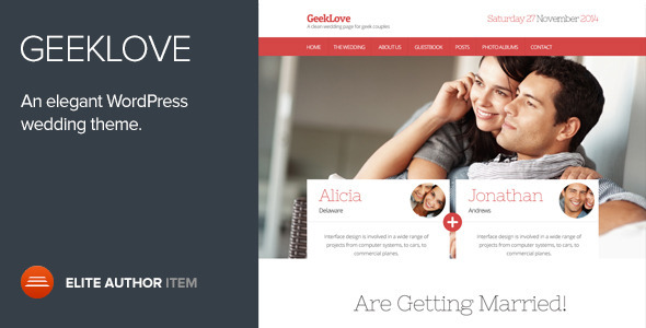GeekLove A Responsive WordPress Wedding Theme