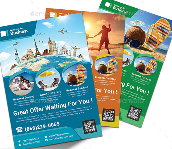 Holiday Travel Flyers Bundle