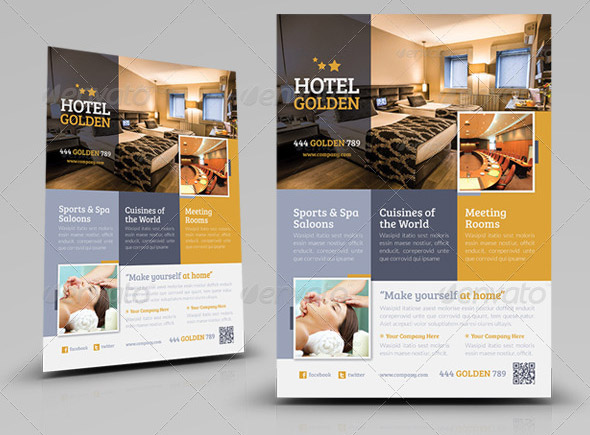 Hotel Golden Flyer Template