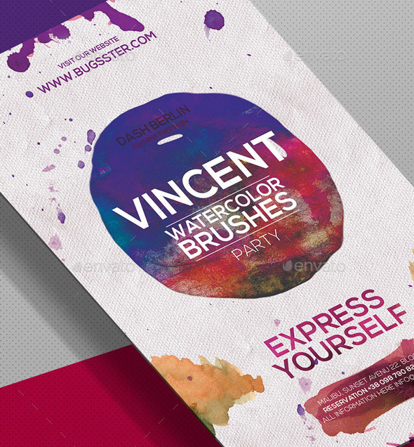 40 Cool Watercolor Flyer Templates