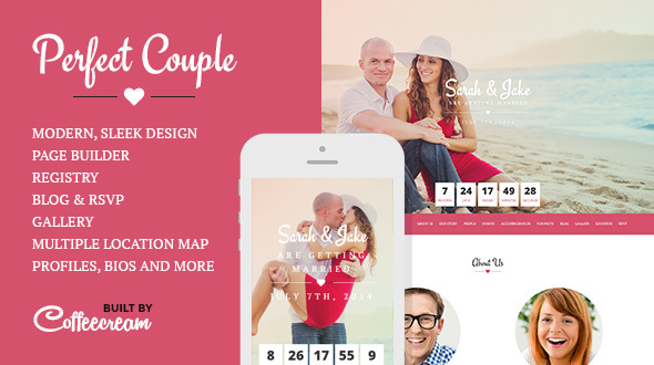 Perfect Couple Wedding WordPress Theme