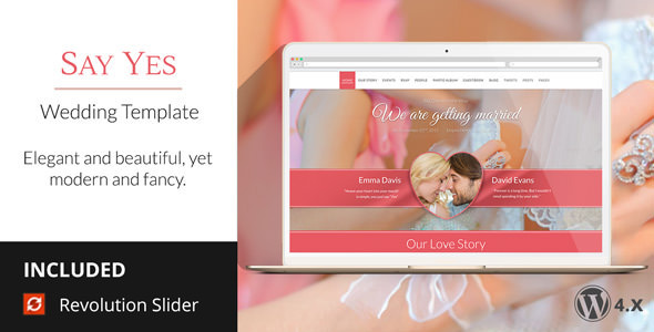 SayYes WordPress Wedding Theme