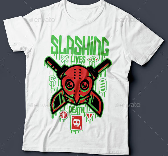 Slashing Party T-Shirt Design