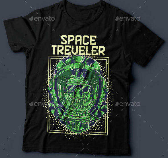 Space Traveler T-shirt Design