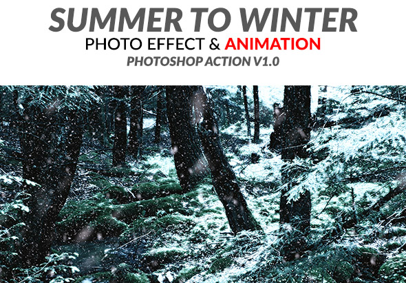 Summer to Winter V1 Photoshop Action