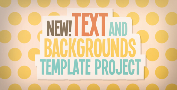 Text And Backgrounds Templates