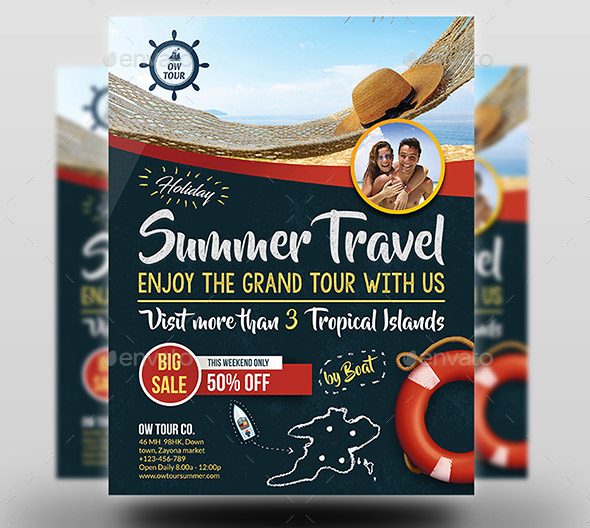 Tour and Travel Flyer Template Vol 2