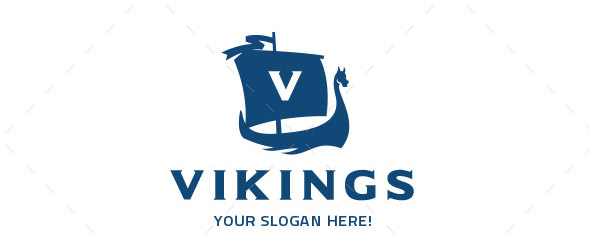 Vikings Ship Logo